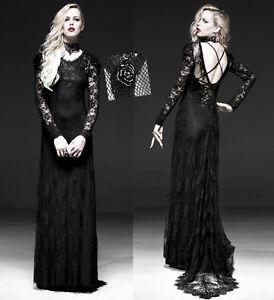 Double-Robe-soiree-longue-gothique-lolita-burlesque-dentelle-traine-Punkrave-N
