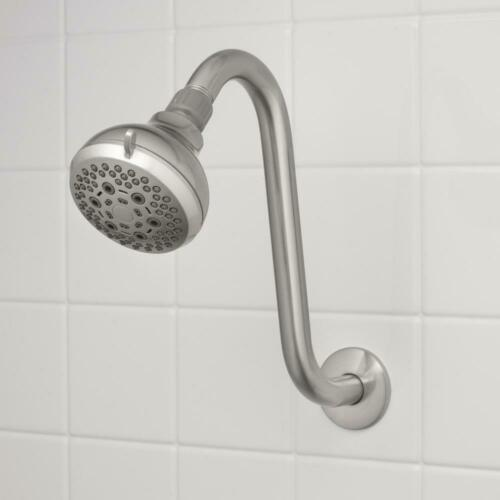 S-Style Shower Arm and Flange in Brushed Nickel by Glacier Bay 11 in