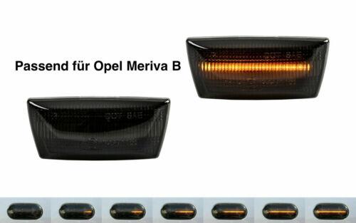 2 X DYNAMISCHE LED SEITENBLINKER BLINKER SMOKE für Opel Meriva B SB15