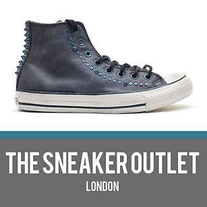 Detalles acerca de Nuevo Converse Ct Con Tachas Hi UK Size 11 Zapatillas Gris Cuero Envejecido mostrar título original