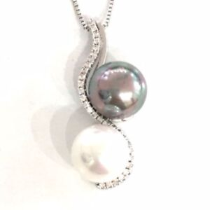 White-Akoya-Black-Tahitian-Pearl-Pendant-Necklace-14K-Gold-Plated-Jewelry-Gift