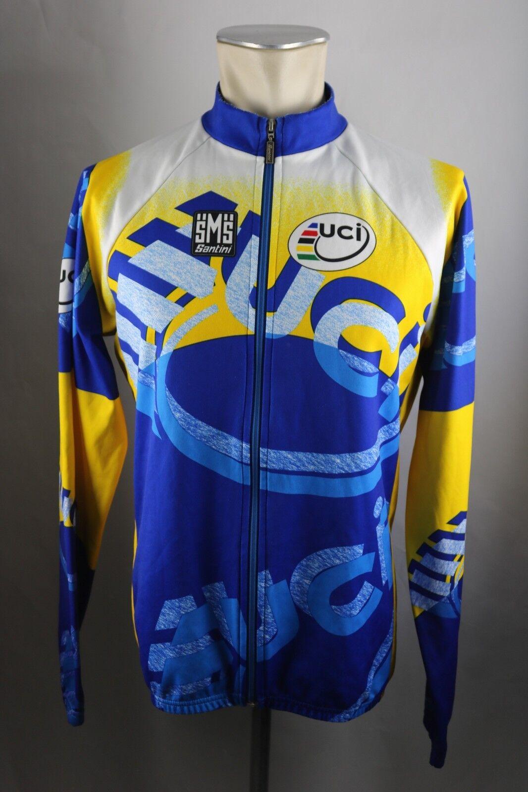 UCI Santini Rad Trikot LS Fahrrad Gr. XL BW 56cm Bike cycling Shirt HZ3