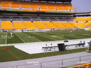 2 Lower Level Sideline Pittsburgh Steelers PSL's PSL - Section 109, Row Z