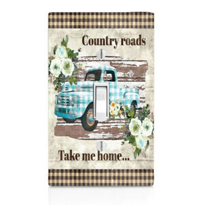 Cabinet knob Truck Switch Cover Outlet Home Decor Night Light Country Roads