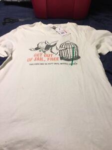 Monopoly-Game-Night-Junk-Food-Men-s-M-Medium-T-shirt-Get-Out-Of-Jail-Free