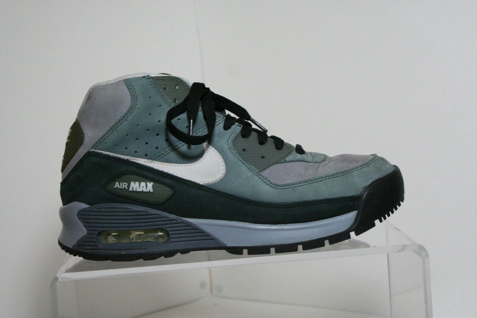Nike Air Max 90 Boot 2008 Sneaker Athletic Multi Retro Men 10 Hip Black Grey Run