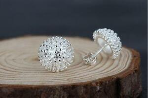 Shiny-Solid-925-Sterling-Silver-Cute-Small-Design-Flower-Cluster-Stud-Earrings