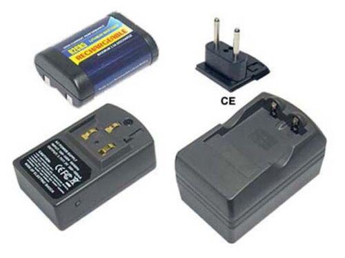 CARGADOR PARA Pentax afl-240r afl-320 z-1 Power Smart batería
