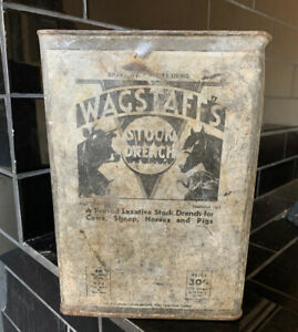WAGSTAFF-S-STOCK-DRENCH-Sheep-Dip-Agricultural-Farming-Vintage-Farming-Oil-Tin