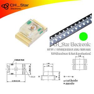 100pcs-0805-2012-Smd-Smt-Led-Verde-diodos-emisores-de-luz-Super-Brillante