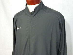 6182a5a68946 Nike Mens running Jacket full zip gray XL 2XL coat Wind pr woven ...