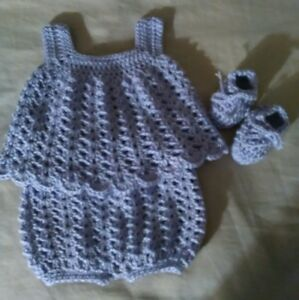 ebf2c487182f1 Details about Newborn baby clothes top & shorts bloomers shoes Lot great  baby shower gift