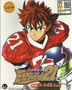 Dvd eyeshield 21 ( tv 1-145 end ) english subtitle + free anime +.