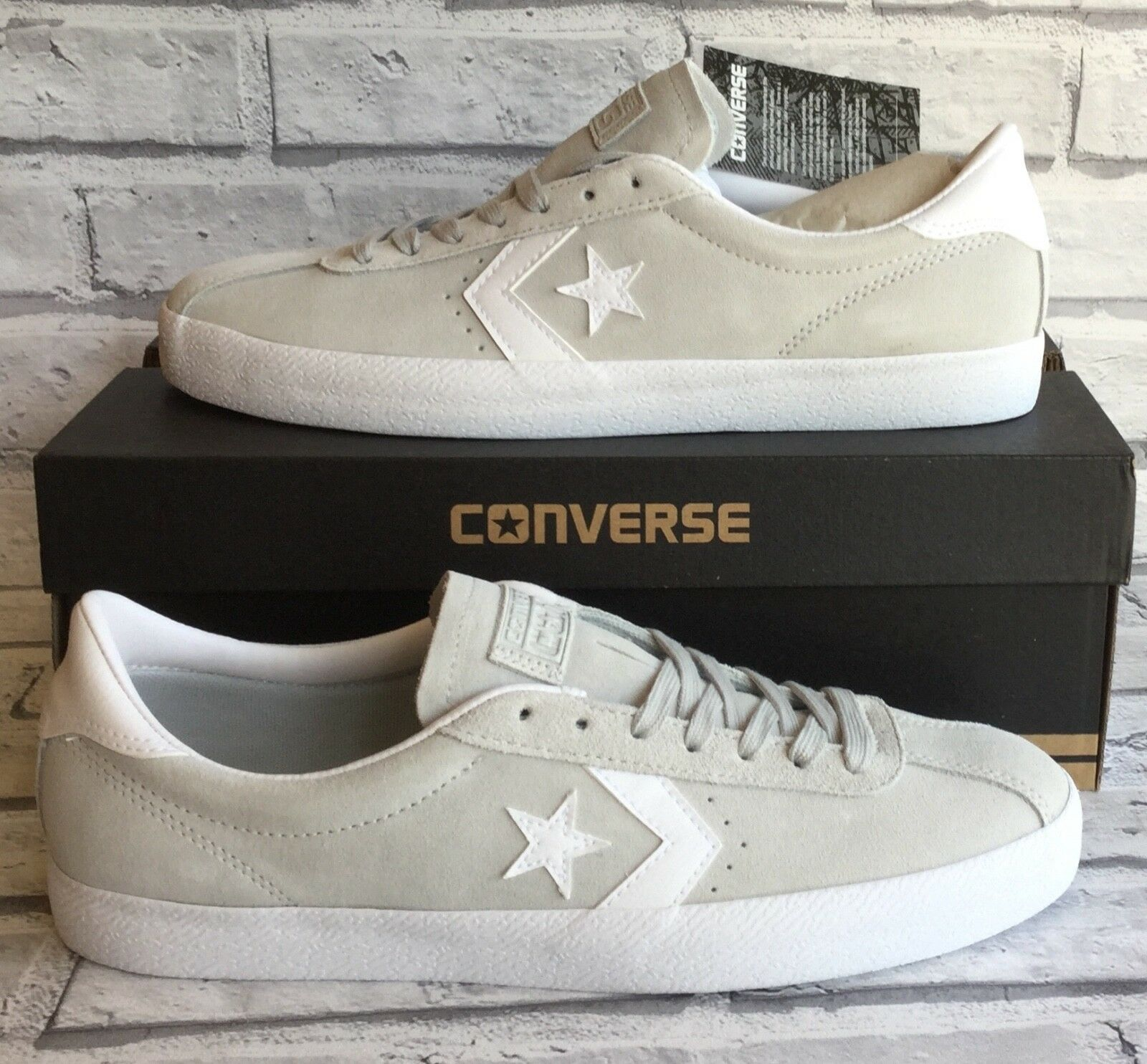 CONVERSE BREAKPOINT OX LO LO LO TOP SUEDE LEATHER MOUSE GREY Weiß 149810C UK 10 / 45 469d7e