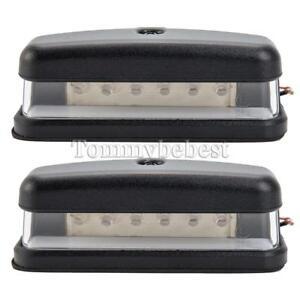 2-X6-LED-Luz-trasera-12V-24V-numero-de-matricula-Camion-Para-Land-Rover-Defender-90-110