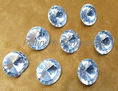 25pcs 22mm Diamante Crystal Buttons Nails for Upholstery Headboard Sofa