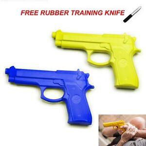 MORGAN-HEAVY-DUTY-PLASTIC-TRAINING-GUN-bereta-krav-maga-yellow-blue-pistol