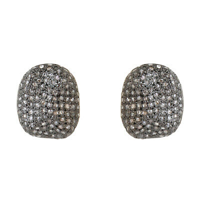925 Sterling Silver 14K Yellow Gold Over 4.00 GM Stud Earrings