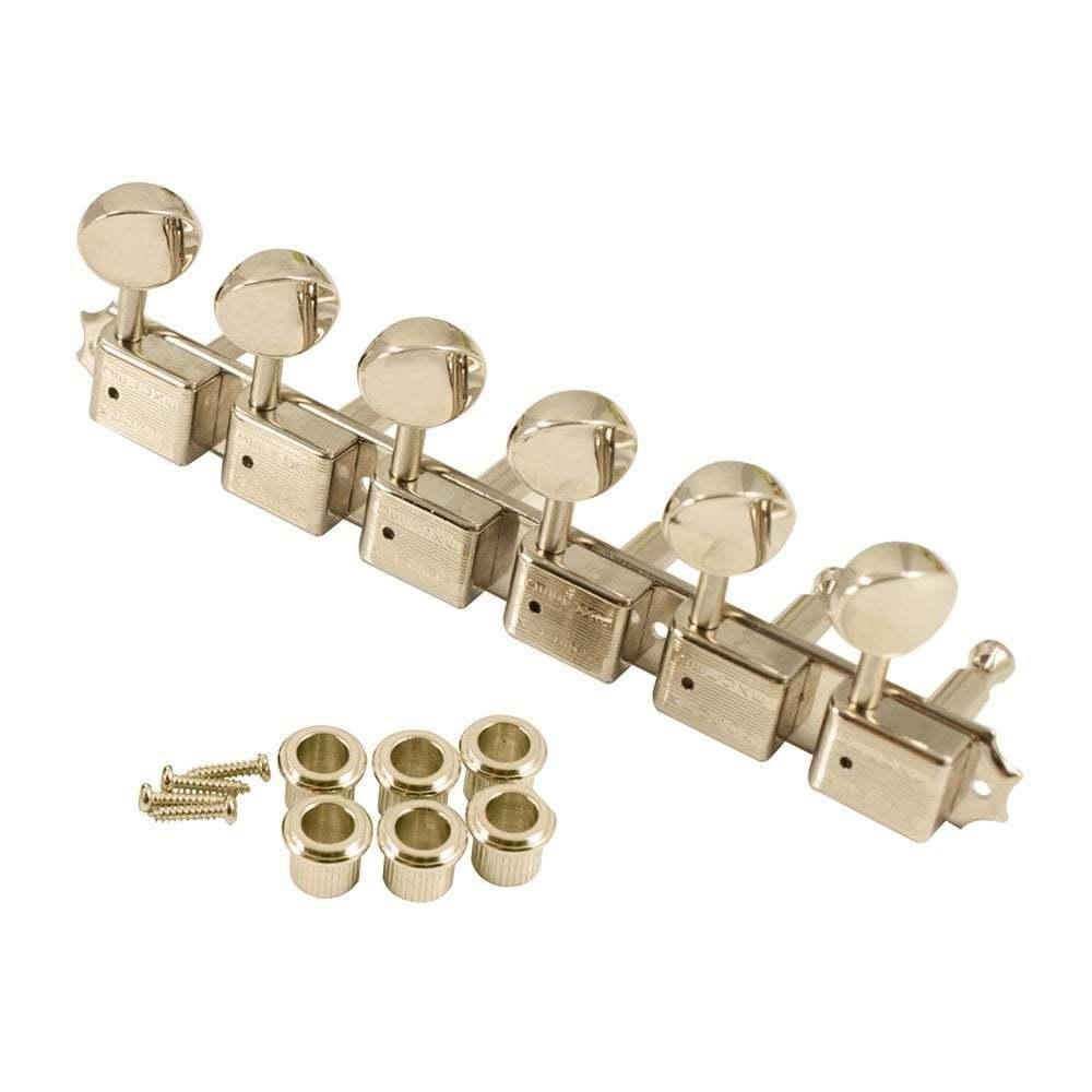 6 en en en un plato de níquel con botones de metal-doble fila Kluson Sello a46f76