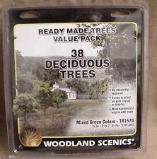 "38 Ready Made Model Railroad DECIDUOUS TREES Woodland Scenics 3/4""-2"" # 1570"