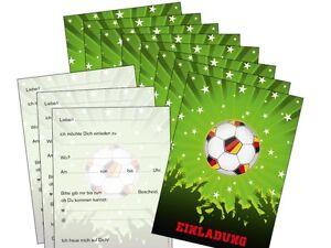 Detalles De Invitaciones Para Fiesta De Fútbol 11 Tarjetas Invitación Cumpleaños Infantiles