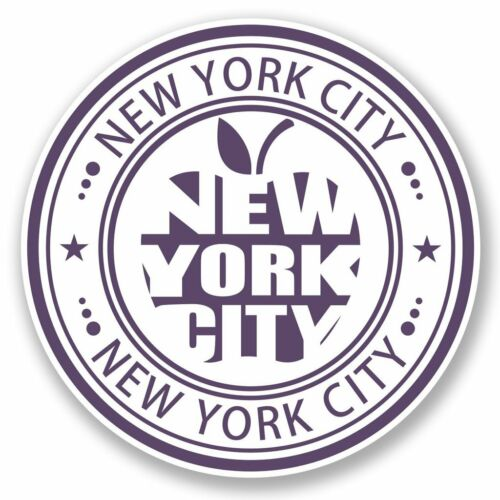 2 X Nueva York USA Pegatina de vinilo Laptop Viaje Equipaje Coche #5678