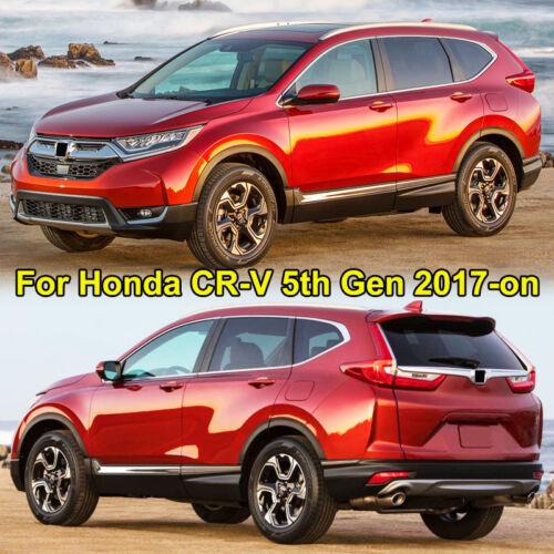 Chrome Front Fog Light Lamp Cover Trim Eyelid Strip For Honda CR-V CRV 2017 2018