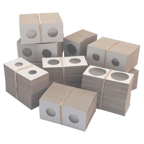 50PCS//Box White Cardboard 2x2 Mylar Coin Holders .