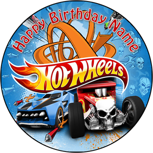 Edible Hot Wheels Car Cake Topper Birthday Party Wafer Paper 19cm