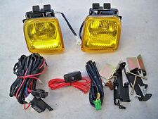 96-98 Honda Civic EK 2/3/4 dr JDM Yellow Fog Light Kit Glass + Harness + Switch