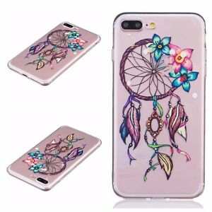 for iPhone 7+ / 8+ Plus - Soft TPU Gummy Rubber Case Cover Flowers Dreamcatcher 797923124868