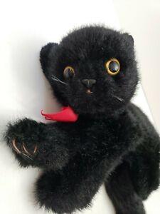 1996-Ty-Classic-COAL-Black-Cat-Kitten-10-034-Plush-yellow-eyes-Vintage-Beanie-Baby