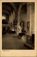 Bebenhausen bei Tübingen Postkarte ~1920/30 Inneres der Kirche im Jagdschloss