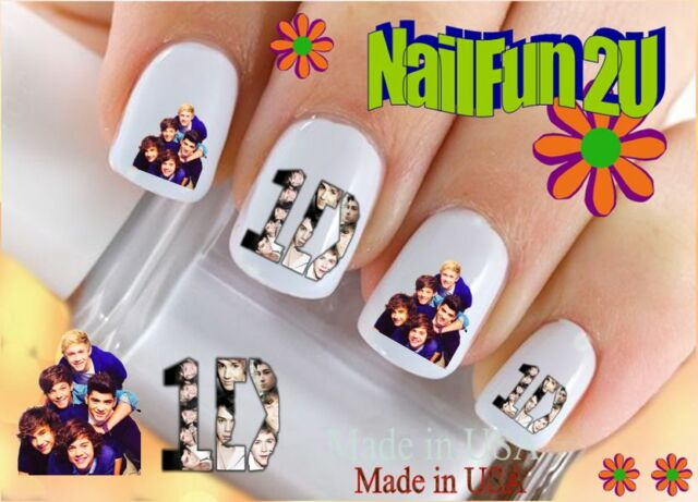 """RTG Set#582 CHARACTER """"1D 2 Faces One Direction"""" WaterSlide Decals Nail Transfer"""