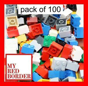 LEGO 2x2 BRICKS 3003 Pack of 100 parts Blue pieces bundle