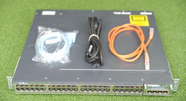 CISCO WS-C3750X-48T-S Catalyst 3750X 48 GE Port Switch w/ C3KX-NM-10G - 1 YrWty