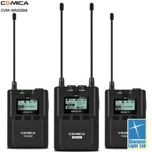 Comica-CVM-WM200-96-Channel-Full-Metal-UHF-Professional-Wireless-Dual-Lavalier-M