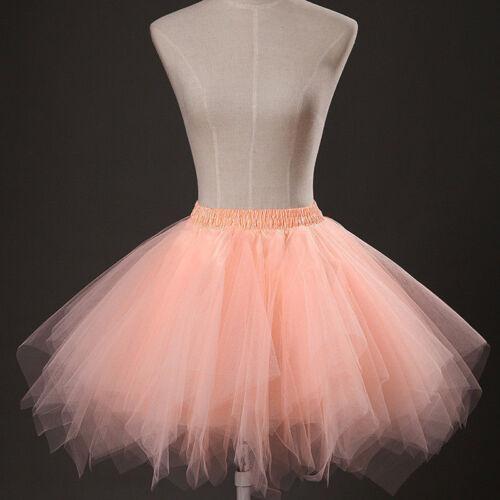 New Short Wedding Tulle Petticoat Bride Bridesmaid Women Irregular Skirt TUTU
