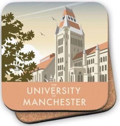 se Manchester University by Dave Thompson cork backed drinks coaster