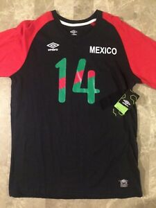 373d31127 Image is loading Umbro-Mexico-Soccer-T-Shirt-Small-New