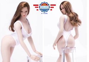 1//6 Female One Piece White Underwear Lingerie Swimwear for 12/'/' Phicen