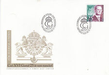 Sweden 1998 25th anniv King Carl Gustav accession FDC Unadressed Mint