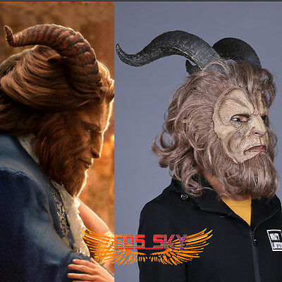 Halloween Mask 2017 Beauty and the Beast Prince Mask Movie Cosplay Costume
