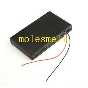 Ranura de la caja de batería para 6 paquetes estándar AA 2A baterías pila 9 V