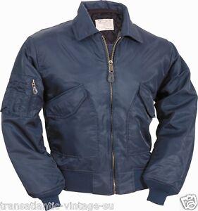 CWU MA2 Flight Jacket US Pilot Men Bomber Security Wear Navy Blue ...