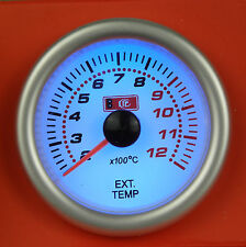 Universal 52mm Exhaust Gas Temp/Temperature EGT Gauge with sensor Blue Light