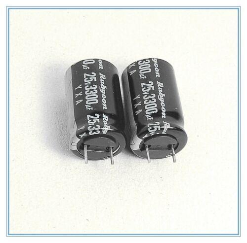 3300uf 25v Rubycon Radial Electrolytic Capacitors 16x25mm YXA 25v3300uf 4pcs