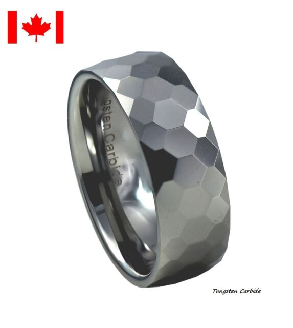 Tungsten Face-cut High Polished 8mm Ring-Clearance Sale