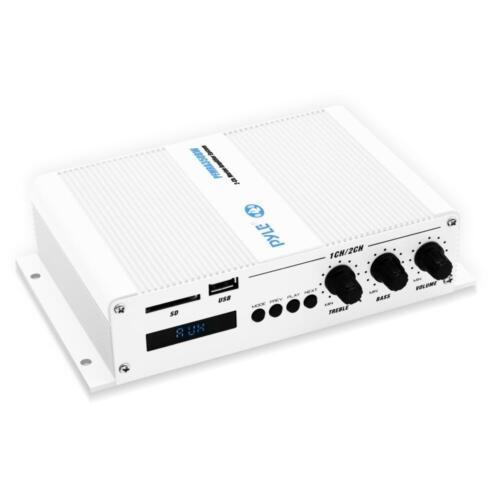 Bluetooth Marine AmplifierWeather Resistant Wireless Audio Amp System 2-Ch