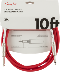 Genuine-Fender-Original-Series-Instrument-Guitar-Cable-FIESTA-RED-10-039-ft